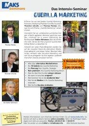 Das Intensiv-Seminar - Guerilla-Marketing-Portal