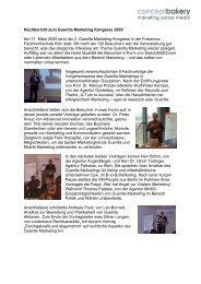 Nachbericht zum Guerilla Marketing Kongress 2005 Am 11. März ...