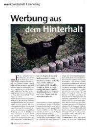 ine schwarze Katze - Guerilla-Marketing-Portal