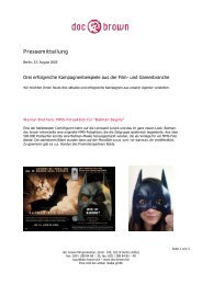 Pressemitteilung - Guerilla-Marketing-Portal