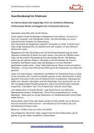Guerillerakampf im Chatroom - Guerilla-Marketing-Portal