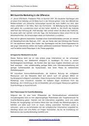 www.guerilla-marketing-portal.de Mit Guerrilla Marketing in die ...