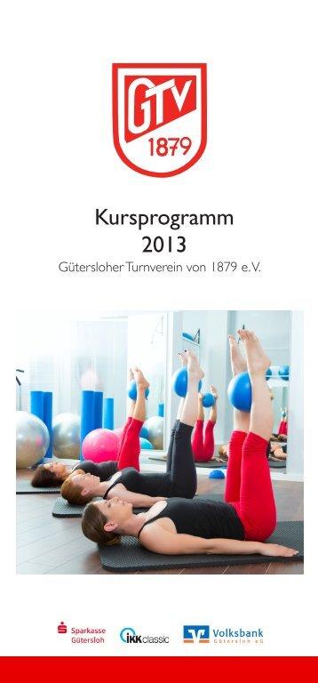 Kursprogramm 2013 - Gütersloher Turnverein von 1879 eV