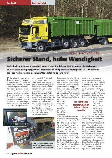 DAF CF 85.460 FAQ - Güterverkehr - online