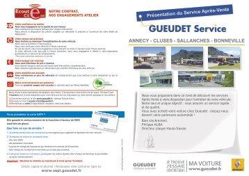 Présentation du Service Après-Vente ANNECY - CLUSES ... - Gueudet