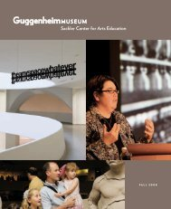 FALL 2008 - Guggenheim Museum