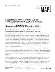 Guggenheim UBS MAP Global Art Initiative - Guggenheim Museum