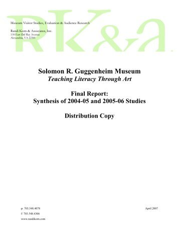 Full report: Synthesis of 2004?05 and 2005?06 Studies (PDF)