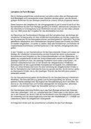 Seite 1 von 41 Lehrpläne im Fach Biologie Die im Anhang ...