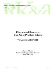 Educational Research: The Art of Problem Solving - Informal Science