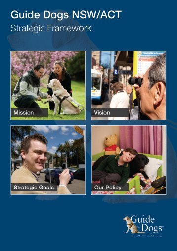 Strategic Framework here - Guide Dogs NSW/ACT