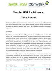 Theater HORA – Züriwerk - guidle