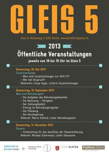 Öffentliche Veranstaltungen 2013 - Kath. Kirchgemeinde Kloten ...