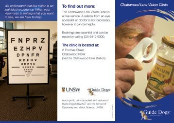 Download Low Vision Clinic Brochure in PDF - Guide Dogs NSW/ACT