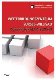 weiterbildungszentrum sursee-willisau kursprogramm 2008/09 - guidle
