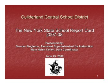 2007-08 NYS Report Card - Guilderland Central School District