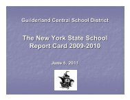 2009-10 NYS Report Card - Guilderland Central School District