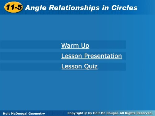 11 5 Angle Relationships In Circles 11 5 Angle Relationships