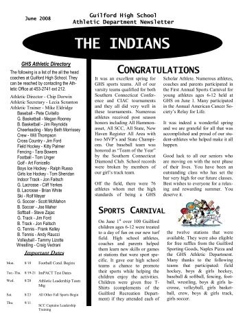 THE INDIANS - Guilford Public Schools