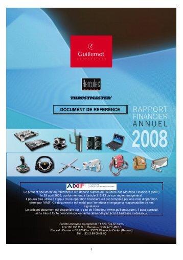 Document de référence - Guillemot corporation