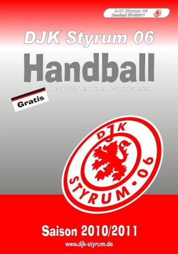 DJK Styrum 06 - Saisonheft 2010/2011