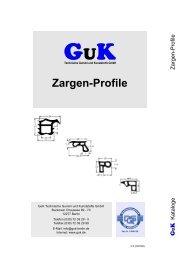 Zargenprofile - GuK Technische Gummi und Kunststoffe GmbH