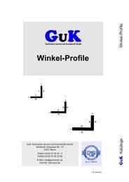 Winkel-Profile - GuK Technische Gummi und Kunststoffe GmbH