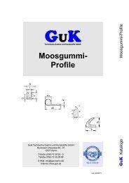 Moosgummiprofile - GuK Technische Gummi und Kunststoffe GmbH