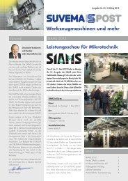 Werkzeugmaschinen und mehr - Suvema AG