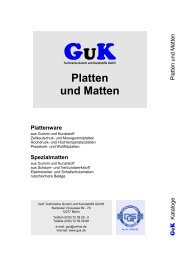 Platten und Matten - GuK Technische Gummi und Kunststoffe GmbH