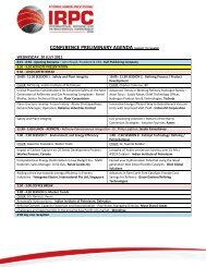 conference preliminary agenda (subject to change) - Gulf Publishing ...