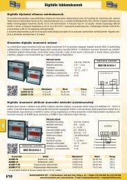 I/10 Digitális táblaműszerek - Tracon