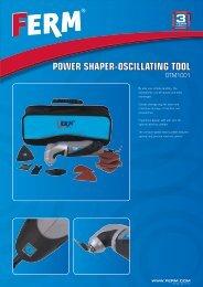 POWER SHAPER-OSCILLATING TOOL - Tracon