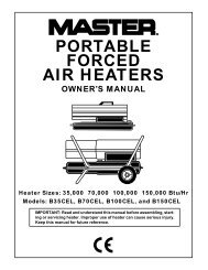 PORTABLE FORCED AIR HEATERS - Tools.by