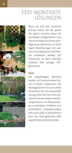 Sichtschutz - Bacher Garten Center