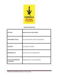 Member Solutions Officer - Gumala