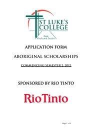 Aboriginal Scholarships - Gumala
