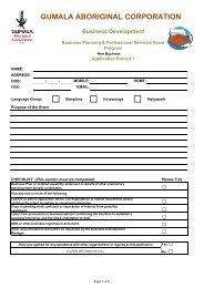 Business Planning & Professional Services Grant - Gumala