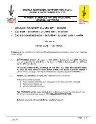 gumala aboriginal corporation icn 2744 gumala investments pty ltd ...