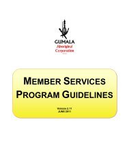 member services program guidelines - Gumala Aboriginal Corporation
