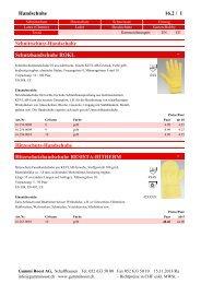 Handschuhe 16.2 / 1 Pro-Tech TM S90P ... - Gummi Roost AG
