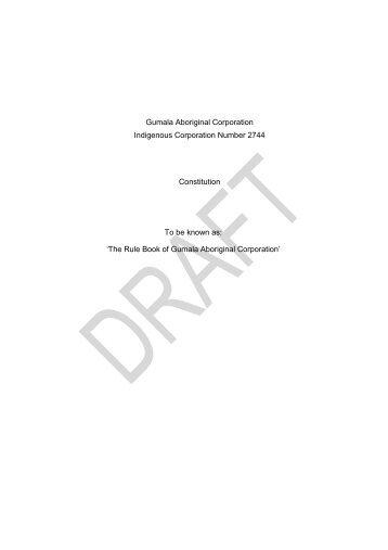 Draft amended GAC's Rule Book FINAL_29 May 2011 - Gumala ...