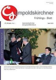 Frühlingsblatt 2010 Teil 1 (2,02 MB) - Gumpoldskirchen