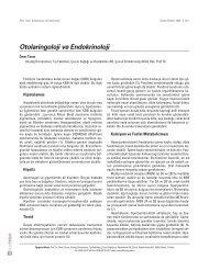 Otolaringoloji ve Endokrinoloji - Güncel Pediatri Dergisi