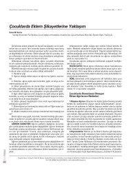 Çocuklarda Eklem fiikayetlerine Yaklafl›m - Güncel Pediatri Dergisi