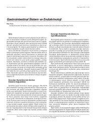Gastrointestinal Sistem ve Endokrinoloji - Güncel Pediatri Dergisi
