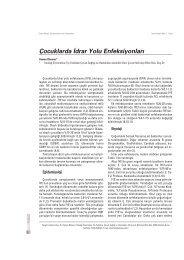 Çocuklarda ‹drar Yolu Enfeksiyonlar› - Güncel Pediatri Dergisi
