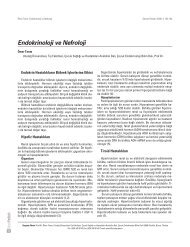 Endokrinoloji ve Nefroloji - Güncel Pediatri Dergisi