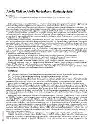 Alerjik Rinit ve Alerjik Hastal›klar›n Epidemiyolojisi - Güncel Pediatri ...
