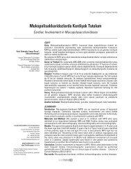 Mukopolisakkaridozlarda Kardiyak Tutulum - Güncel Pediatri Dergisi